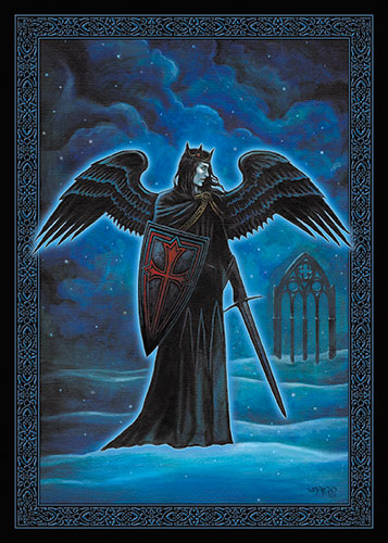 Winter's Knight Geeting Card